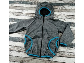 Softshellová bunda Yháček, letní, šedý melír