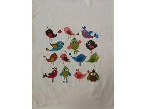 Panel - úplet, barevní ptáčci