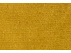 Teplákovina organická bavlna, hořčicová 034