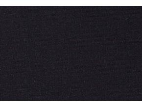 Teplákovina organická bavlna, černá 069