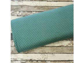 Úplet puntíky drobné, smaragd 022
