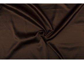Satén s elastanem, hořká čokoláda 055