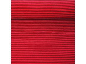 Kojenecký plyš, pruhy s červenou