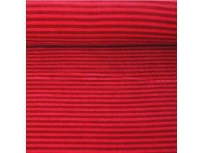 Kojenecký plyš, pruhy s červenou 18