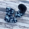 Nosicí botičky - válenky Yháček, flís, lebky na navy