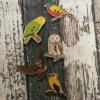 Knoflík ptáci