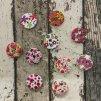 Knoflík, barevné květy