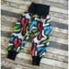 Zimní softshellové kalhotky Yháček, barevný maskáč