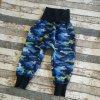 Zimní softshellové kalhotky Yháček, modrý maskáč