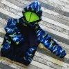 Softshellová bunda Yháček, zimní, modrý maskáč