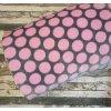 Flanel fleece, růžové puntíky