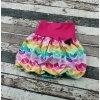 Balónová sukně Yháček, duhový cikcak drobný