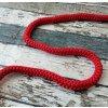 Šňůra kulatá, červená 12 mm
