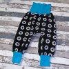 Zimní softshellové kalhoty Yháček, hvězdy na černé
