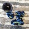 Nosicí botičky - válenky Yháček, modrý maskáč