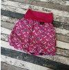 Balónová sukně Yháček, ježek na růžové