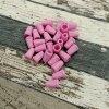 Plastová koncovka, pastelově růžová
