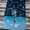Panel - dívka s deštníkem na modré