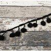 Lemovací bambulky, černé, 20 mm
