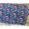 Softshell zimní, barevní dinosauři na navy