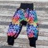 Zimní softshellové kalhoty Yháček, barevné šupiny