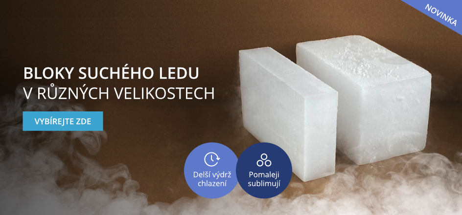 Bloky suchého ledu