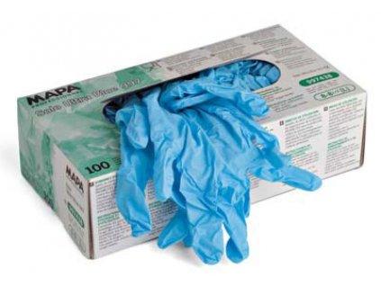 Jednorázové pracovní rukavice Mapa Professionnel Solo Ultra 997 - rukavice na jedno použití z chlorovaného nitrilu (Velikost rukavic 9 - 9,5 XL)