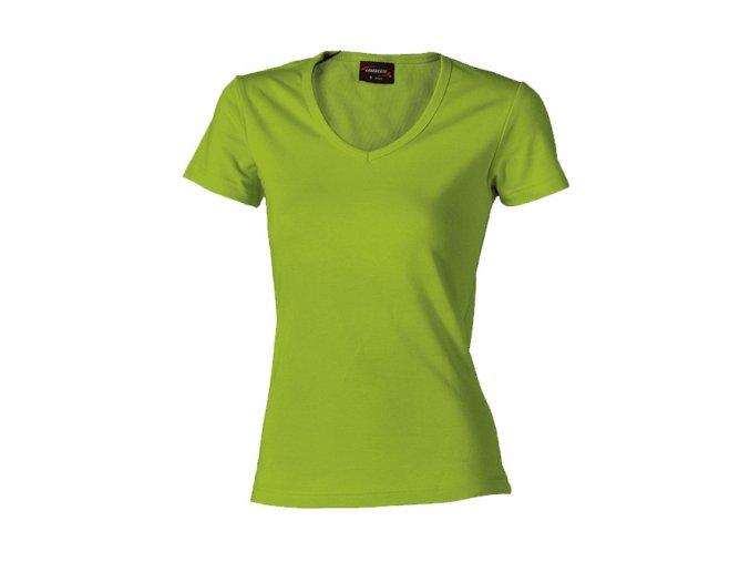 Tričko dámské HF krátký rukáv výstřih do V