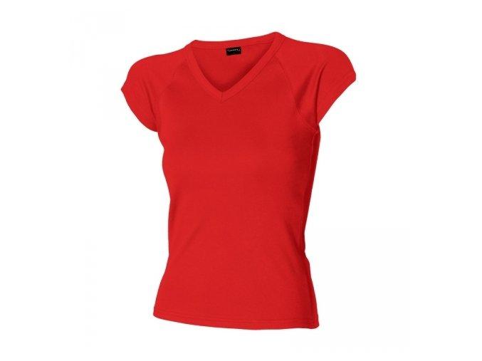 Tričko dámské HF krátký raglánový rukáv výstřih do V