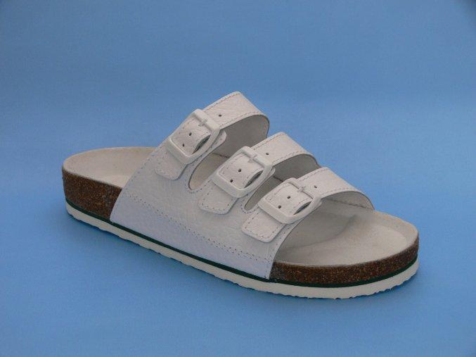 Zdravotní obuv P/4  pantofle 3 pásky