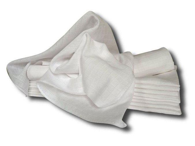 Bílá bavlněná plena