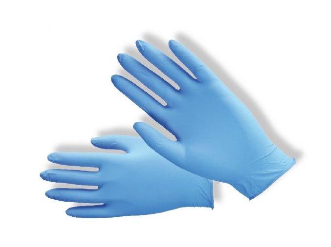 Nitrilové jednorázové rukavice pudrované PD-NT-PWD