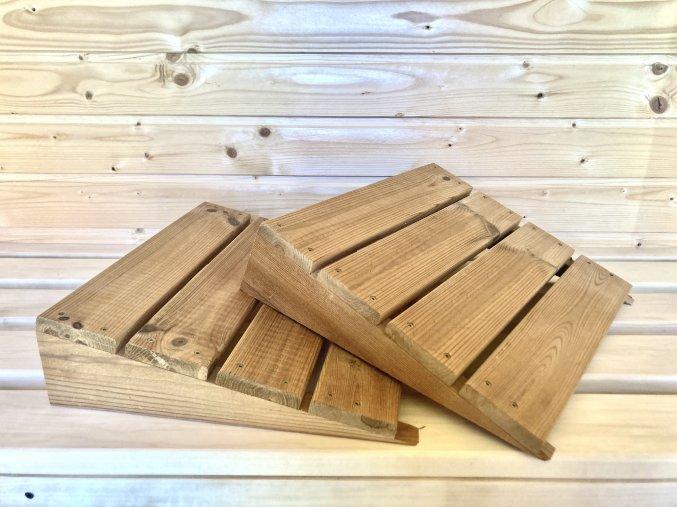 Dřevěný podhlavník 2 ks