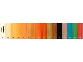 Vzorkovnik barev dřevěný obklad