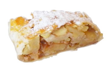 Jablečný štrůdl z listového těsta