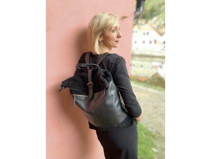 Batoh černý kombi