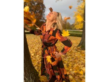 """Saténové košilové šaty """"Podzim 1"""""""