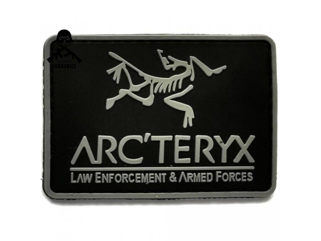 Patch Arcteryx černý 8 1000