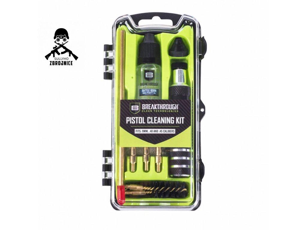 breakthrough vision series pistol cleaning kit 9mm 40 45 cal