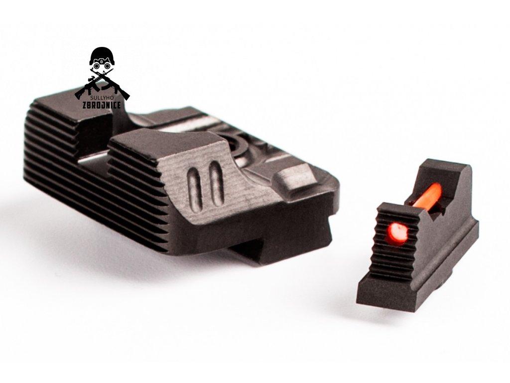 ZEV Technologies Sight Set 230 Fiber Optic Front Combat v3 Black Rear media 2