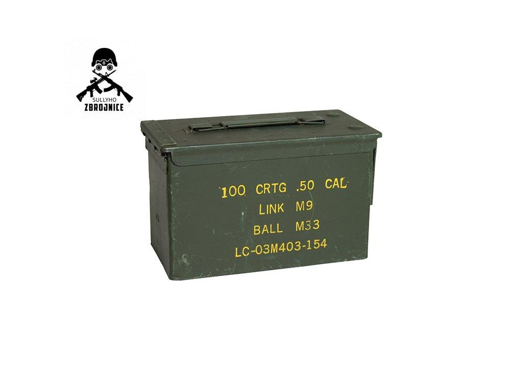 Bedna na munici US CAL.50 kovová střední použitá - pouze k nákupu jiného zboží