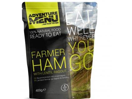Farmer ham with lentil ragout pp