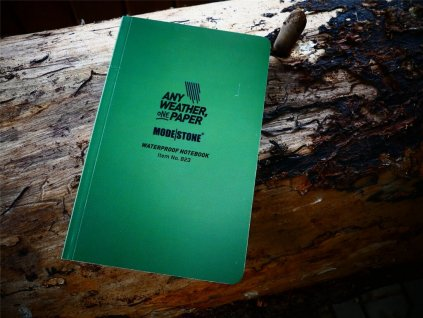 vodeodolny zapisnik ctvereckovany flexible field book 118 mm x 183 mm modestone 64 listu zeleny 074854 or