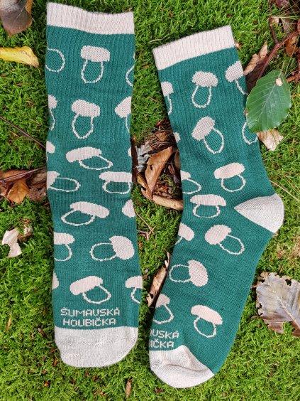 houbarské ponozky zelena 9
