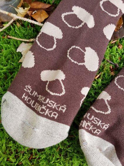 houbarske ponozky hneda 4