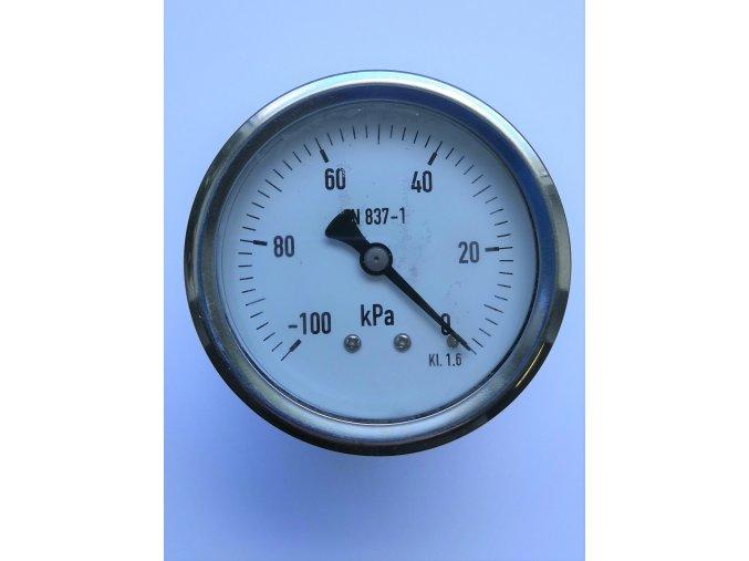 Manometr otřesuvzdorný plněný glycerinem pr.63mm, zadní M12x1,5, -100+0 kPa