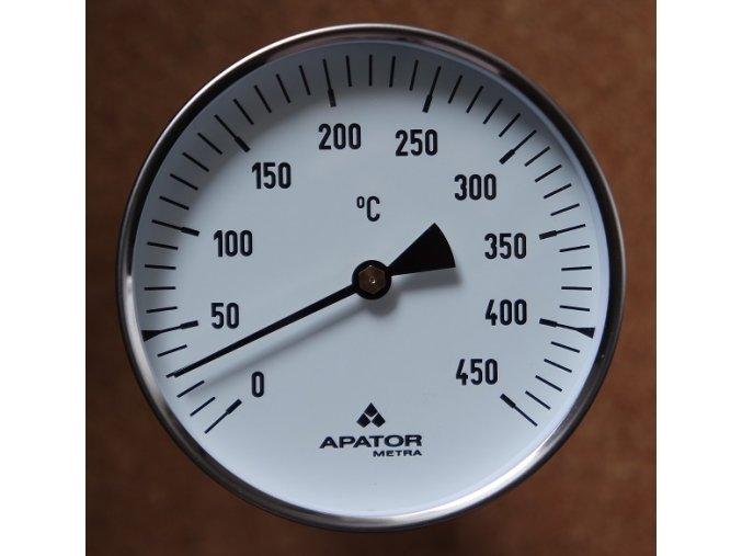 Teploměr rovný TR100 0-450°C stonek 250 mm