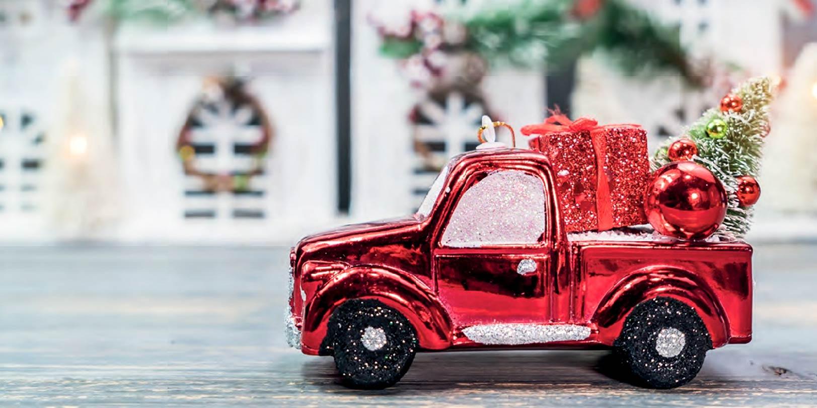 Vánoce ozdoba autíčko červené