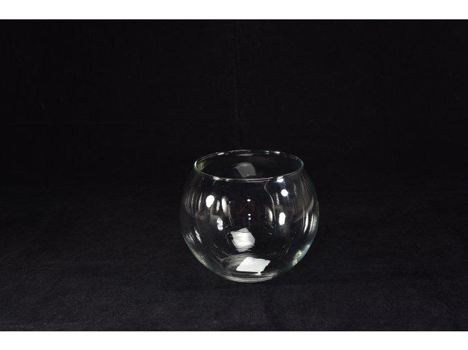 129326 pruhledna sklenena koule d cm 16 h 14