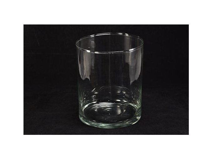 129341 pruhledna valcova sklenena vaza d cm 19 x hcm30